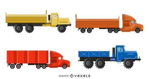 Paquete de camiones fotorrealistas de envío