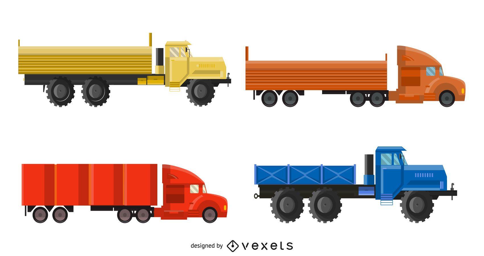 Paquete de camiones de envío fotorrealistas
