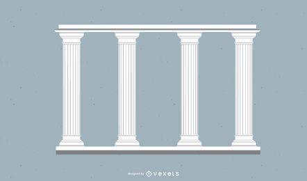 Alto pilar ornamental decorado