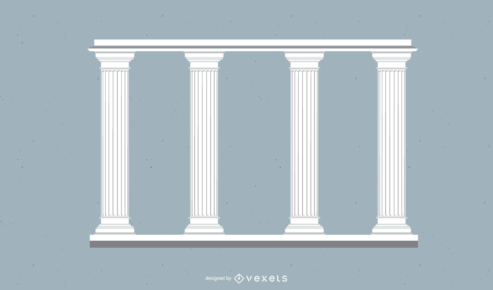 Pilar ornamental decorado alto