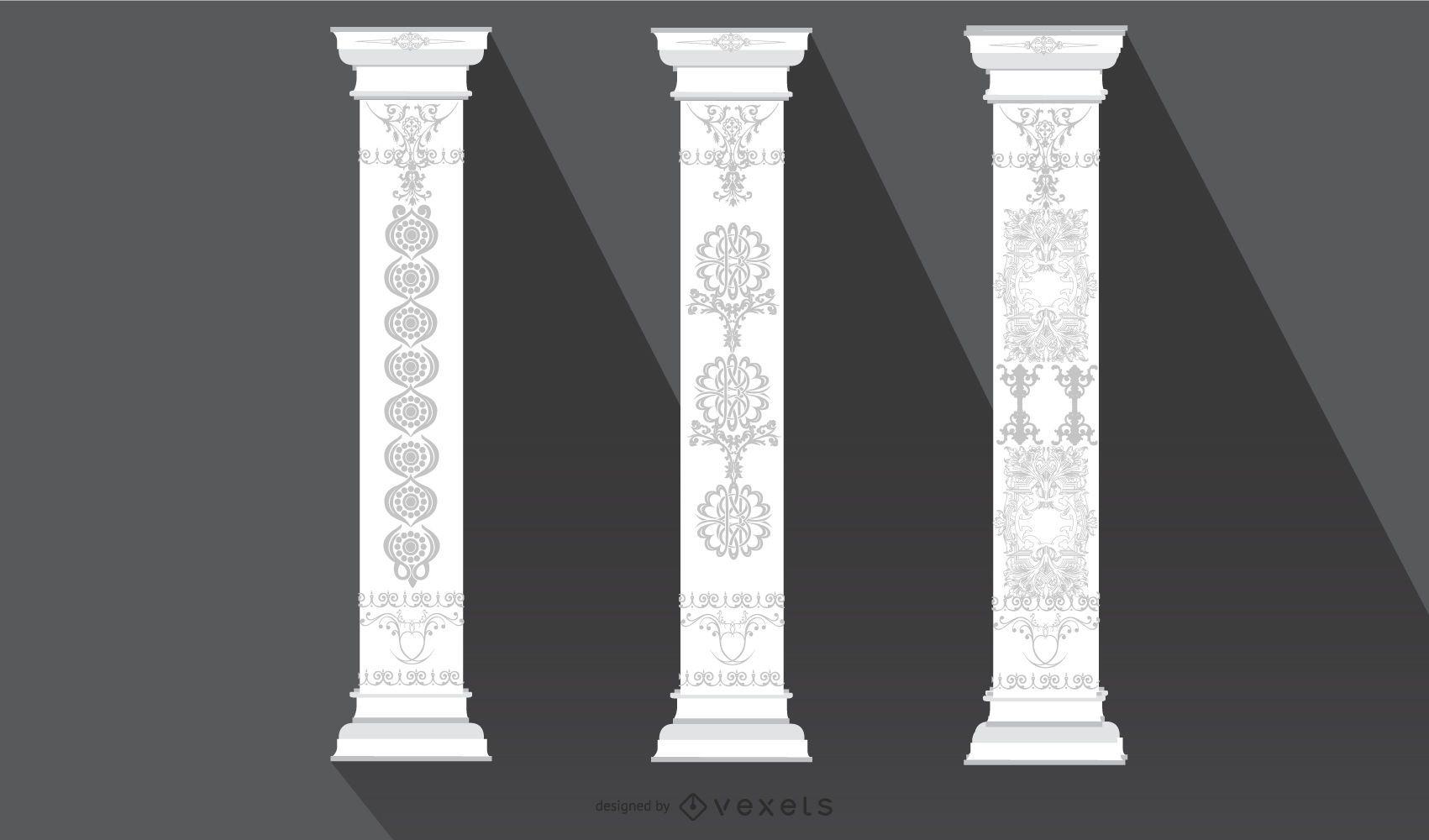 Vintage Floral Ornamental Pillar