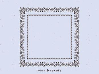 Diseño de marco ornamental vintage