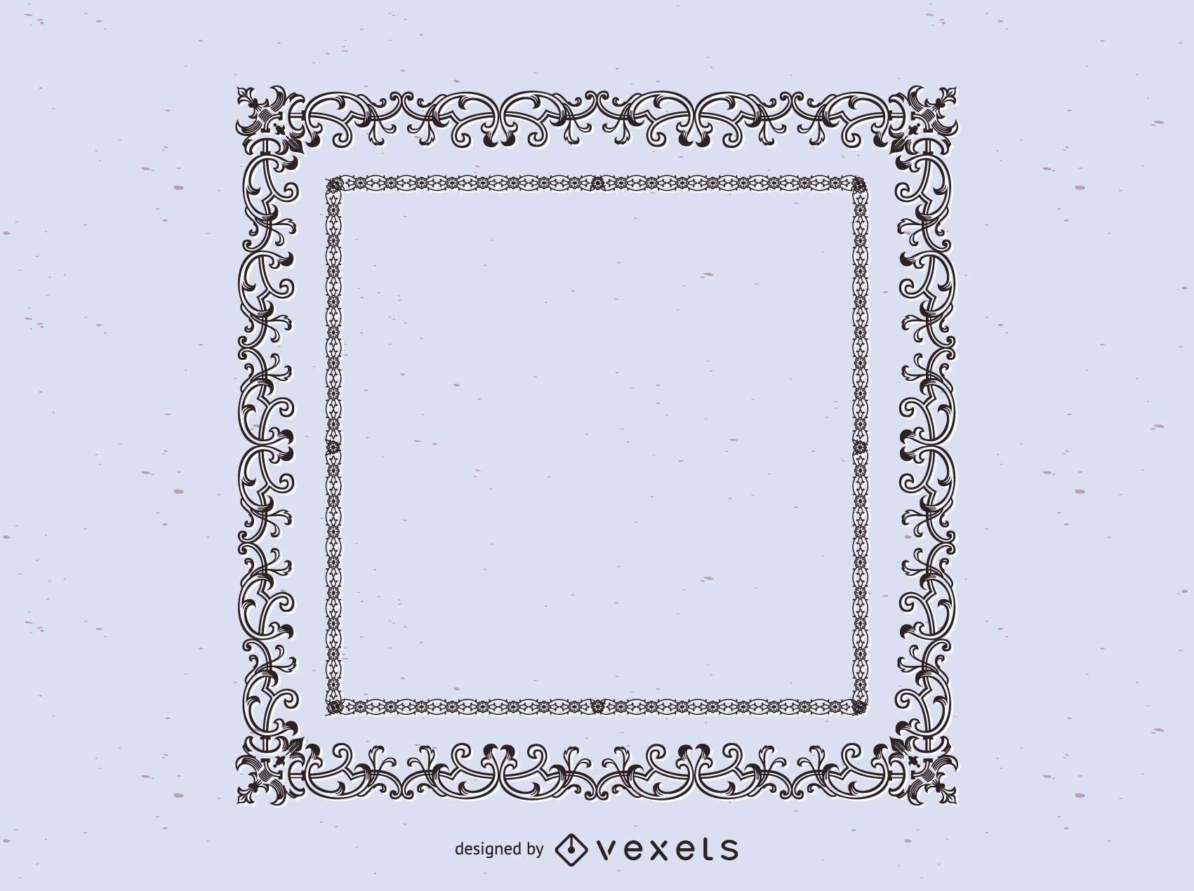 Vintage Ornamental frame Design