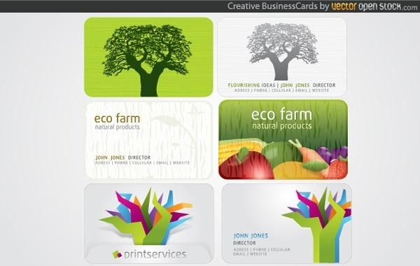 Kreative Visitenkarten Vektor Download