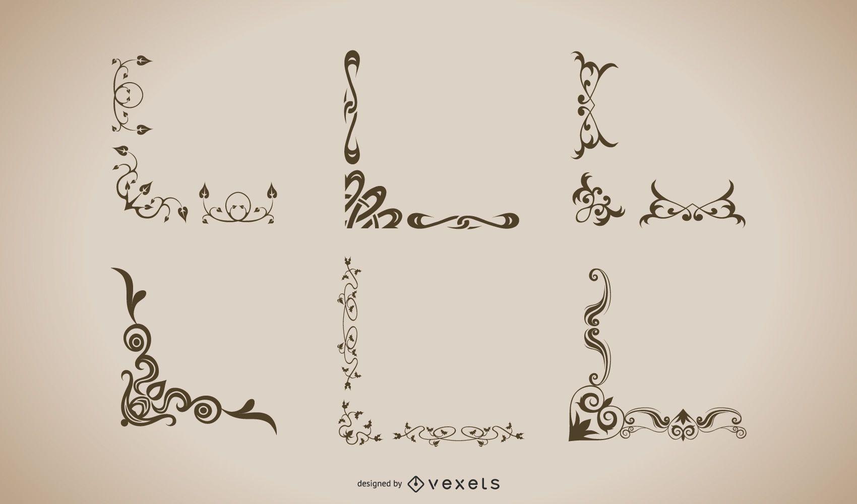 Marcos Vintage Adornos Formas