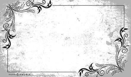 Disposición floral del marco del remolino sucio