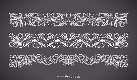 Forma de adorno floral vintage