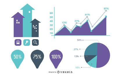 Gráfico de información gráfica vintage