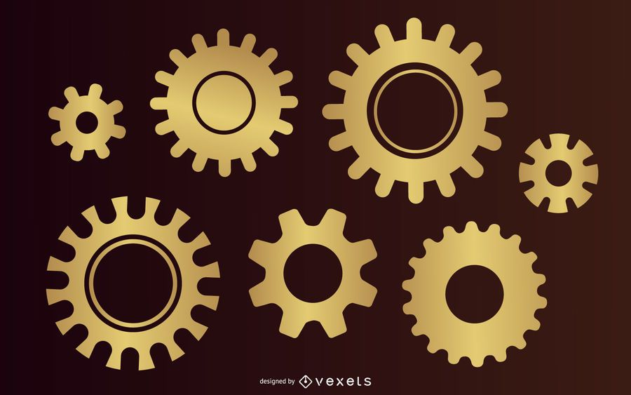 Paquete de diseño Golden Gear