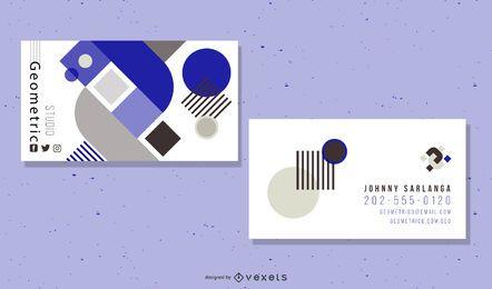 Tarjeta de visita simple negra y azul