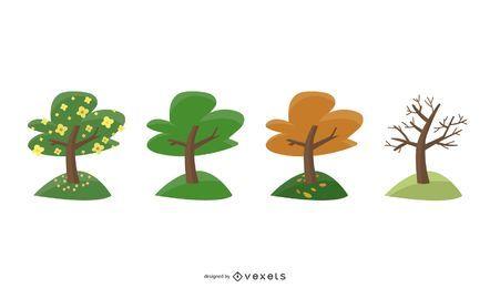 Árvore na visão de temporadas