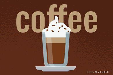 Transparente Kaffeetasse