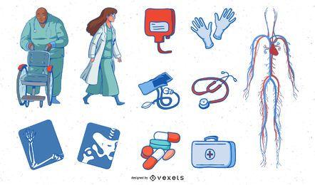 Pacote de ilustrações médicas