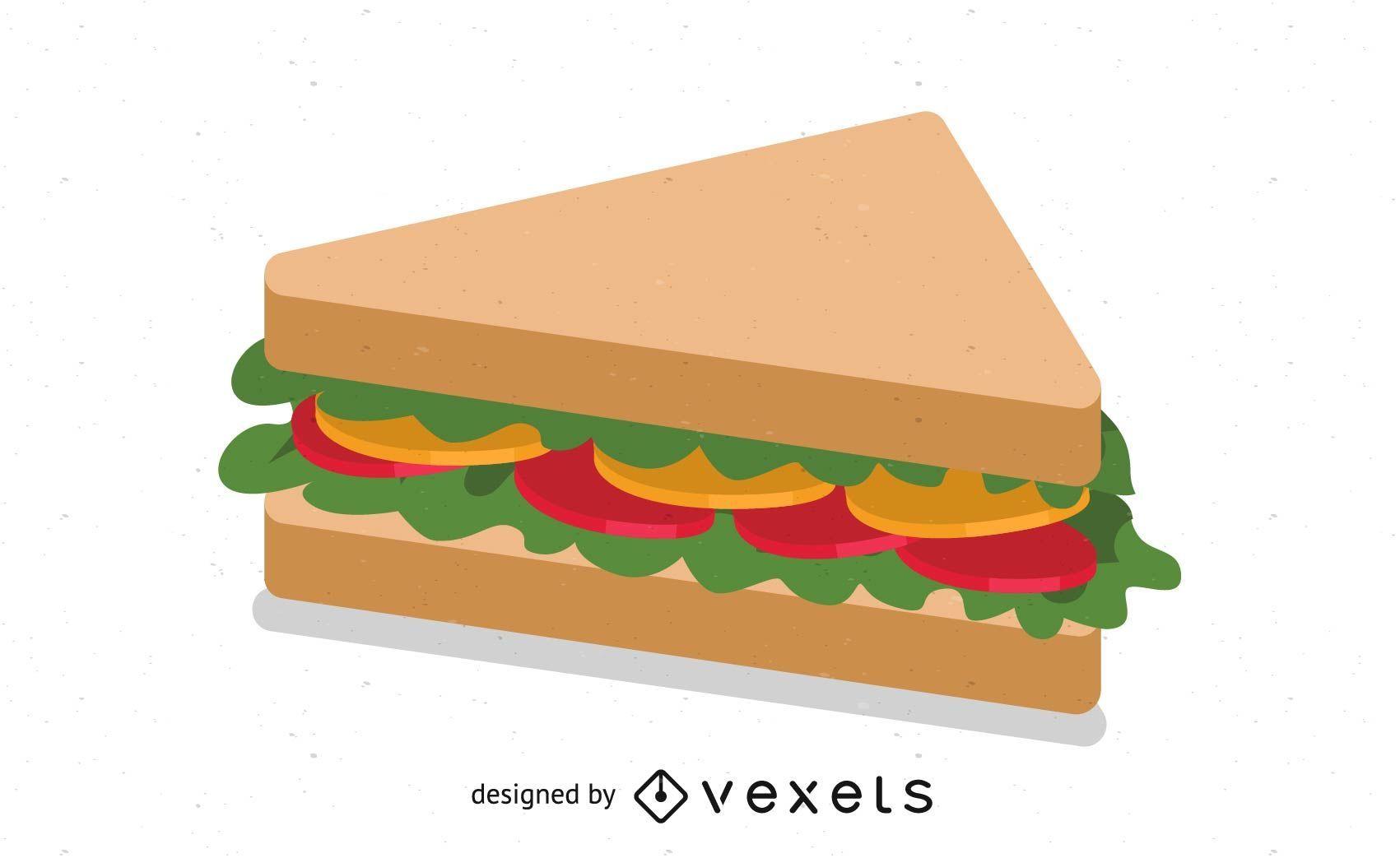 Sandwich Vektor