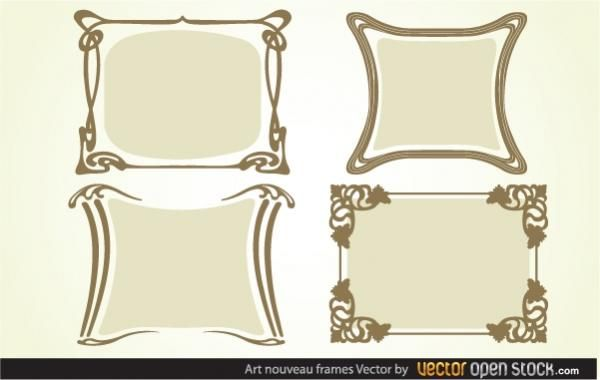 Art nouveau Frames - Vector download