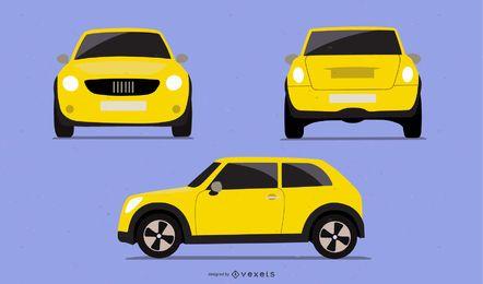 Conjunto de Carros Amarelo Novo Uno