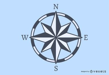 Grauer Kompass