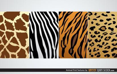 Texturas de impressão animal