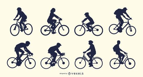 Casual Biker Silhouette Set