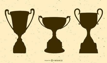 Pacote de troféu de silhueta