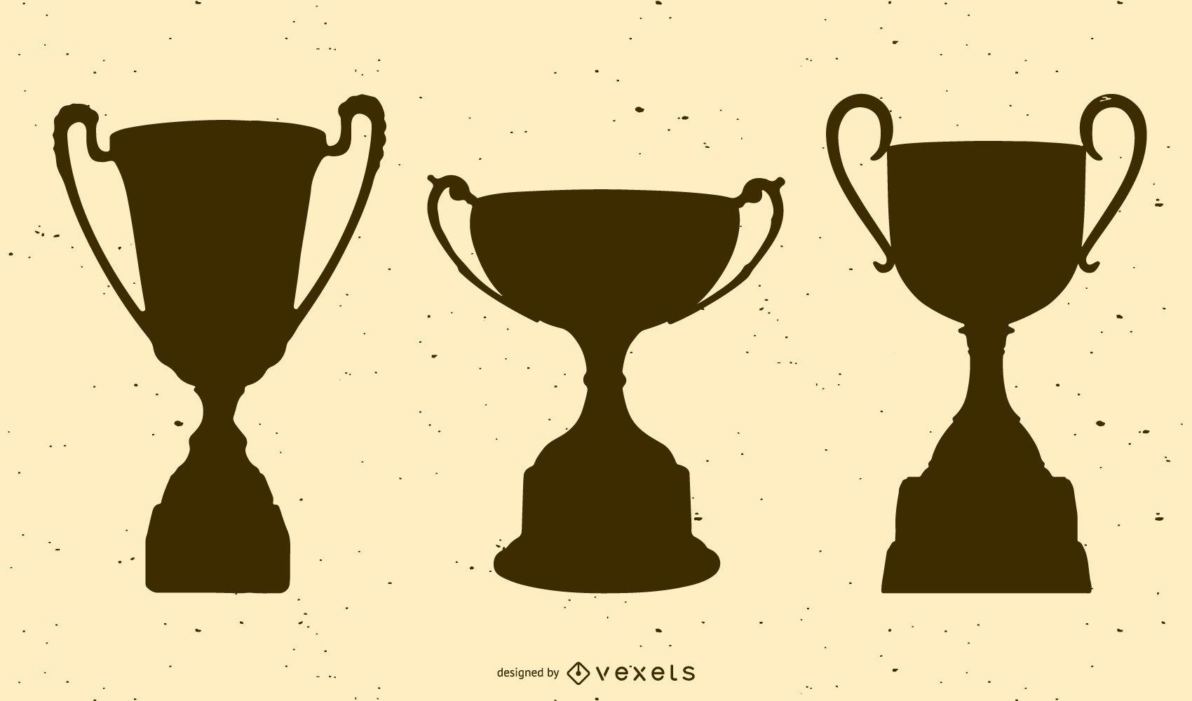 Paquete de trofeos de silueta