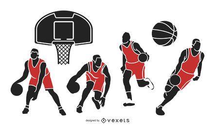 Basketball-Spieler und Sachen