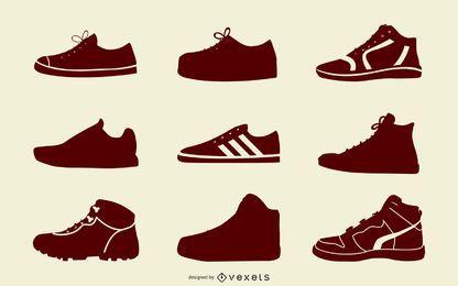 Paquete de botas deportivas en blanco y negro