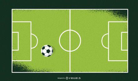 Campo de Futebol Artístico e Bolas