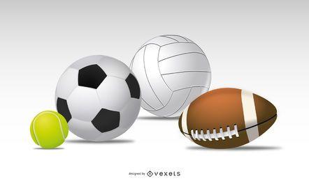 Cuatro balones deportivos
