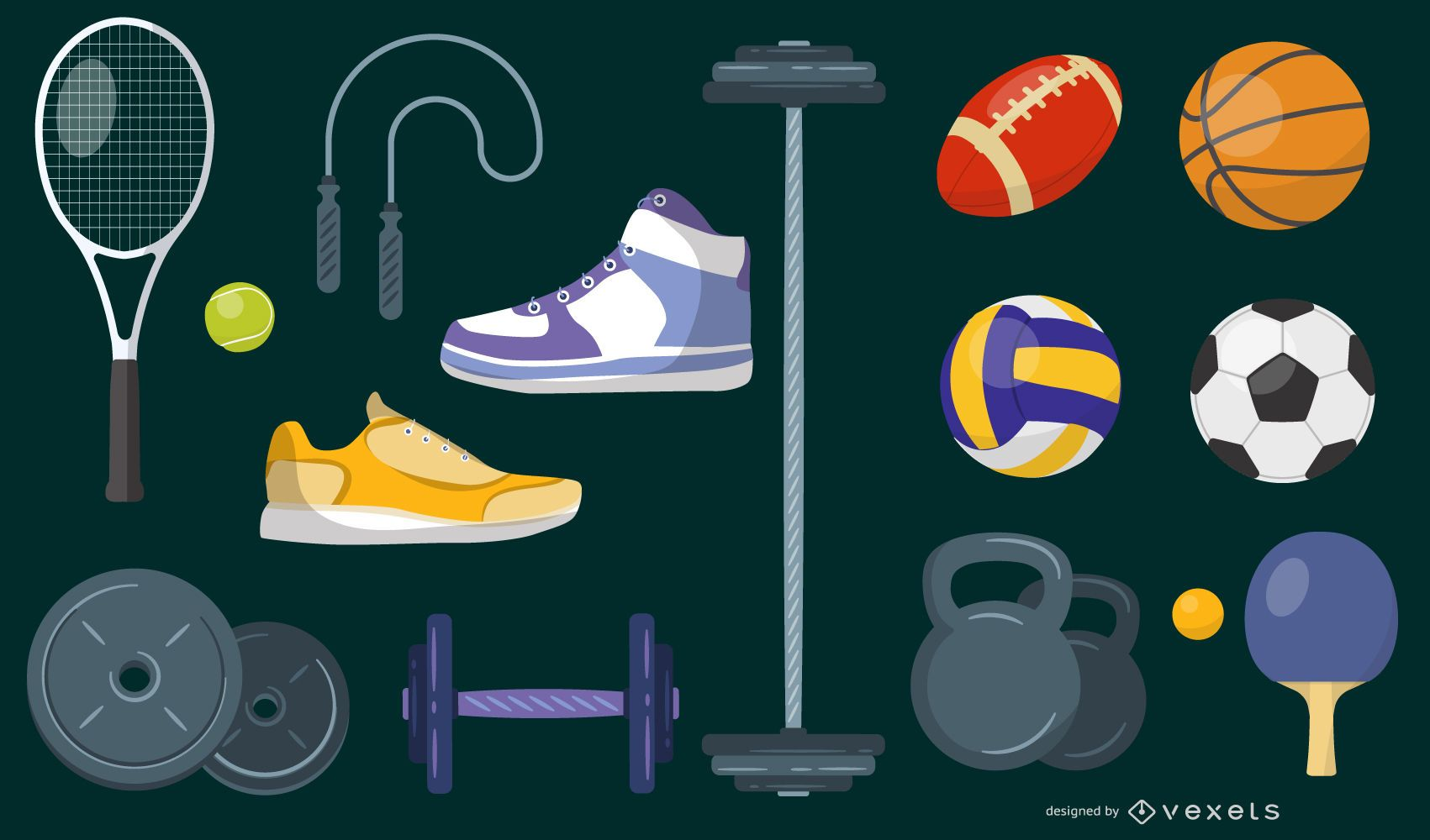 Equipamentos de ginástica e esportes