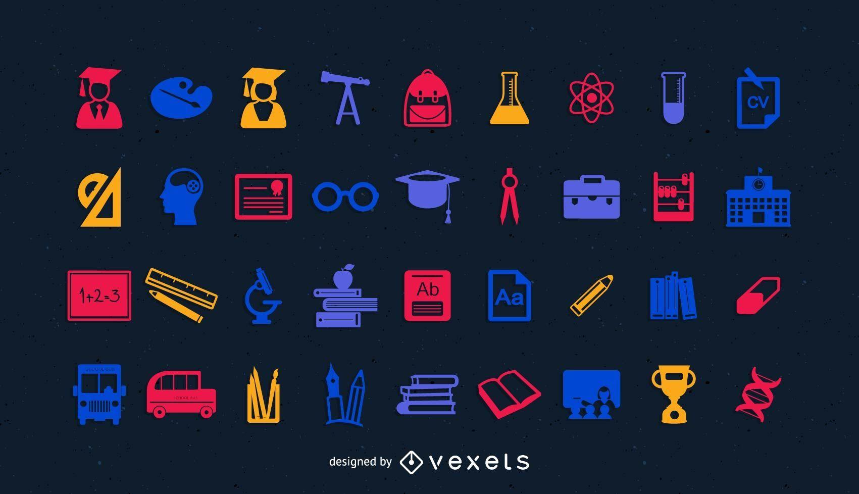 Icon Pack für Bildung und Wissenschaft