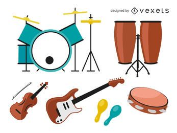 Musikinstrument-Pack