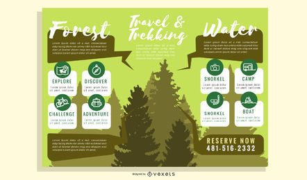 Brochure Template with Nature Objects