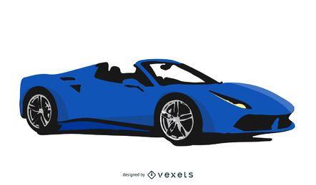 Coche deportivo azul Ferrari