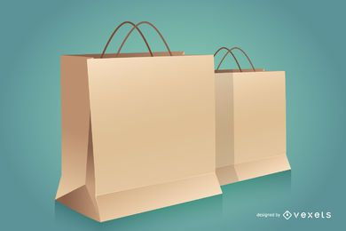 Papiereinkaufstaschen-Modell