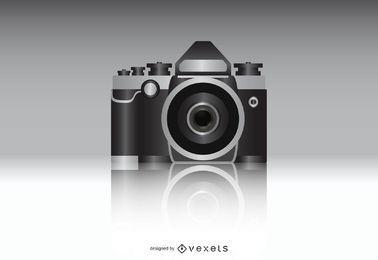 Vetor realista de câmera fotográfica