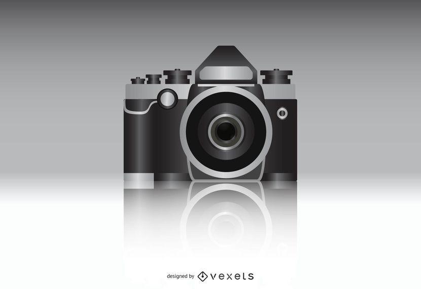 Cámara de fotos realista vector