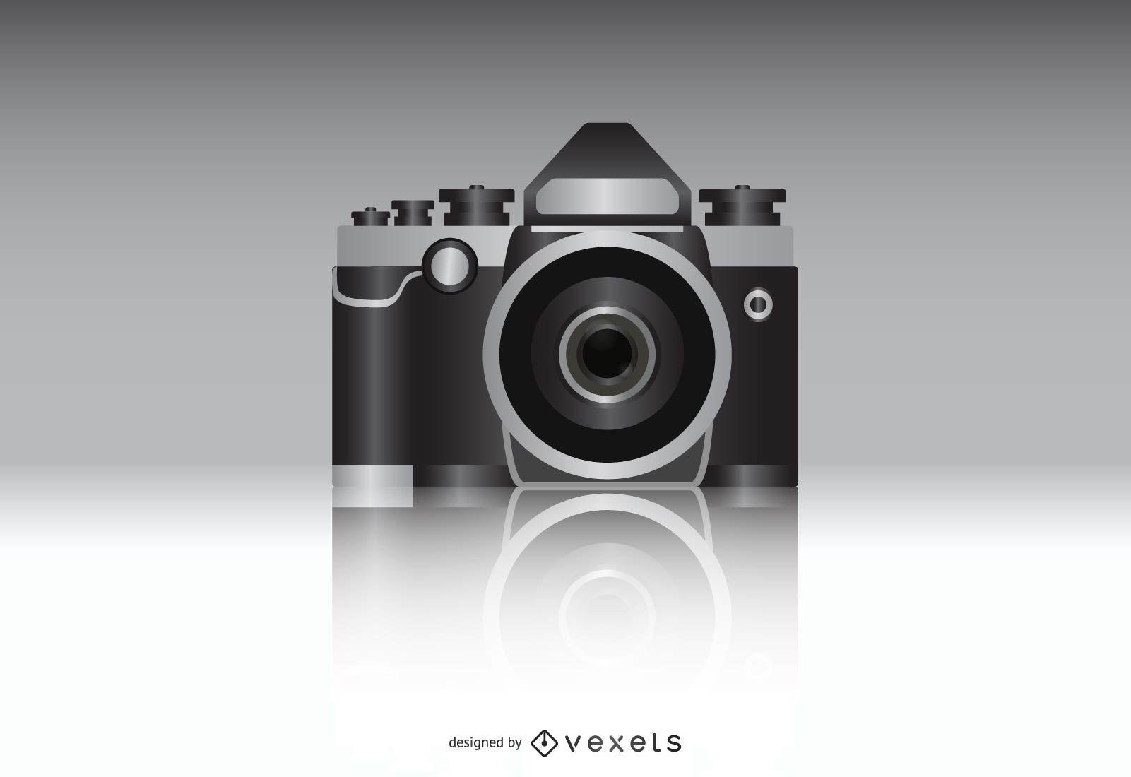 Photo Camera Realistic Vector