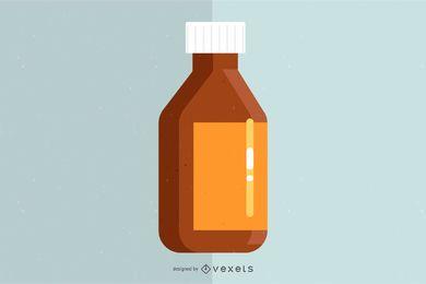 Botella de medicina brillante