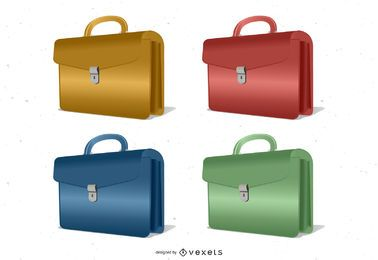 Briefcase Vector Set