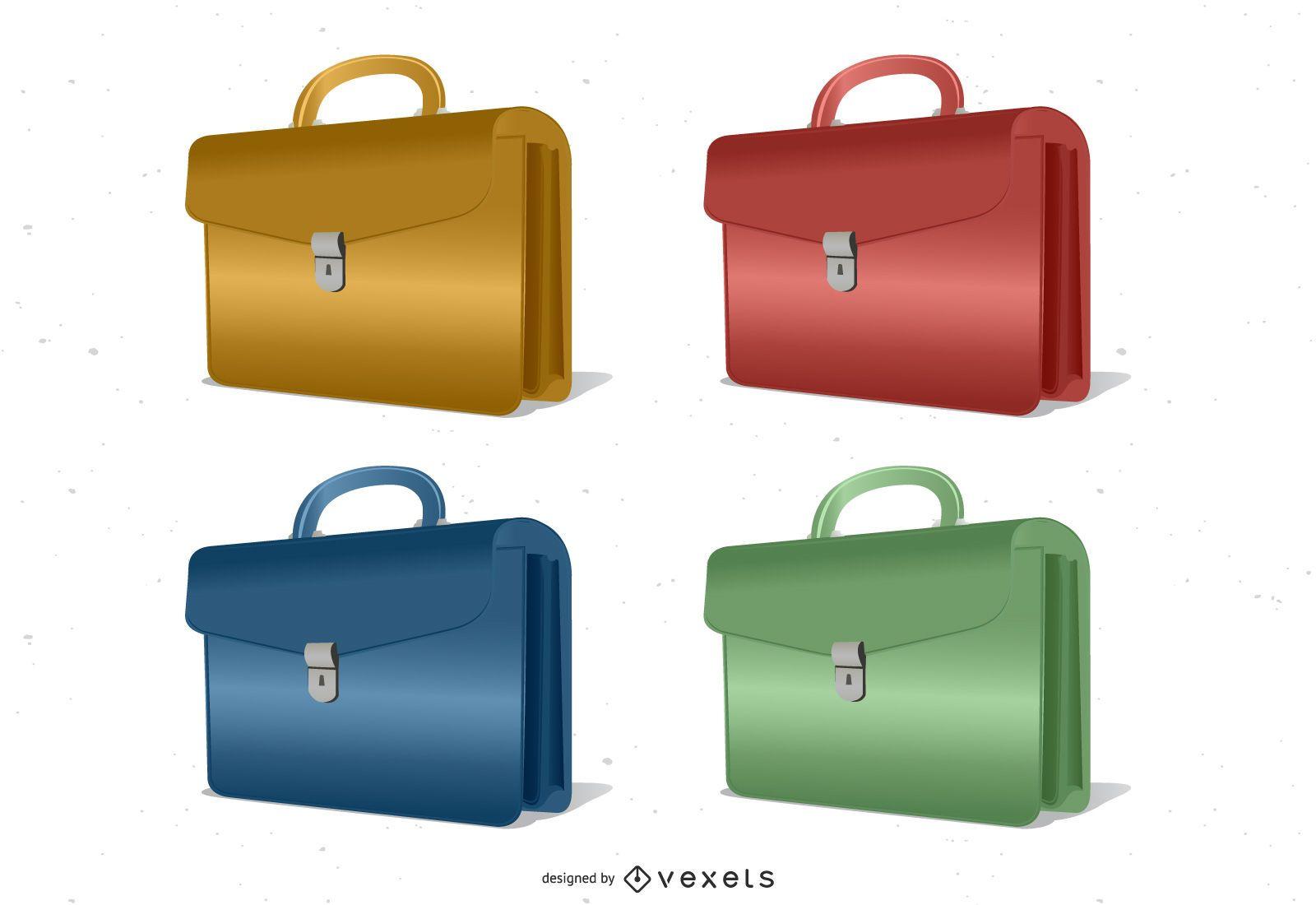 Briefcase Vector Set