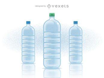 Garrafa de água mineral preenchida