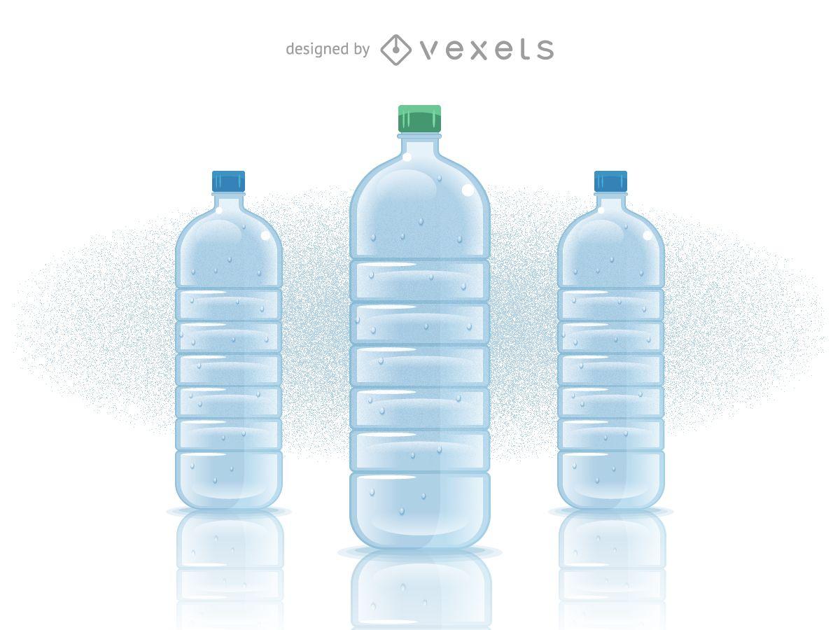 Botella de agua mineral llena