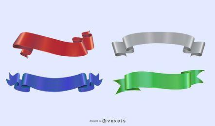 Forma 3D do pacote de fita