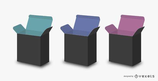 3D DVD Box-Vorlagenpaket