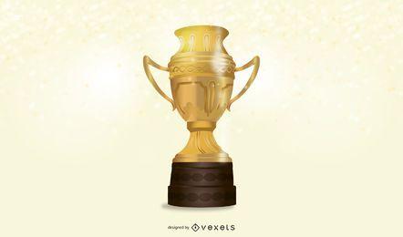 Troféu de ouro realista 3D