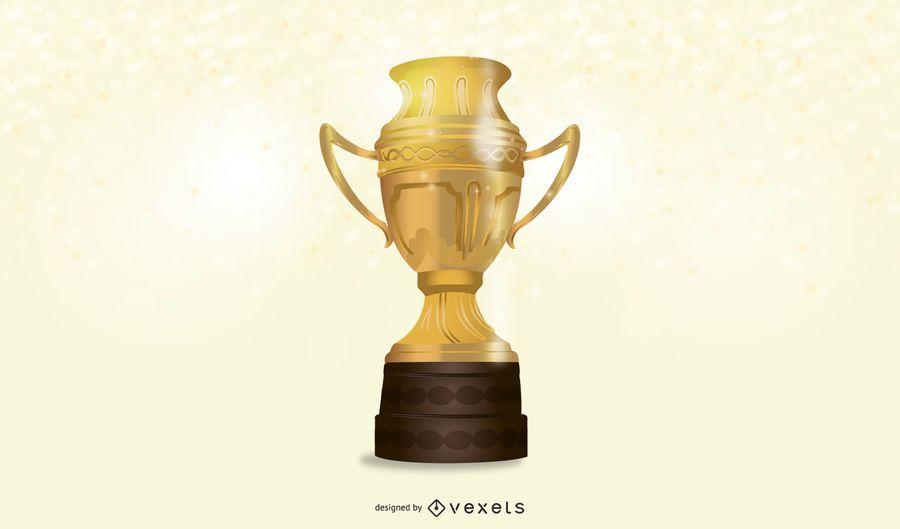 3D Realistic Gold Trophy