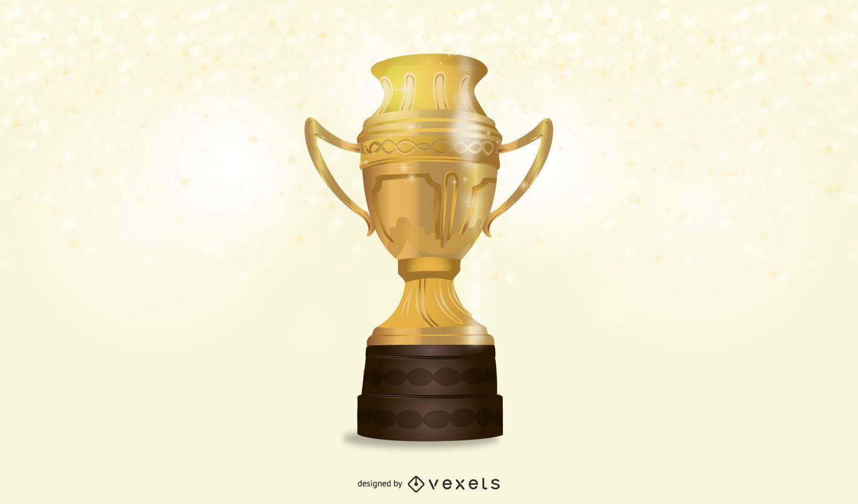 Trofeo de oro realista 3D