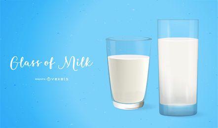 Copo de leite hiper-real