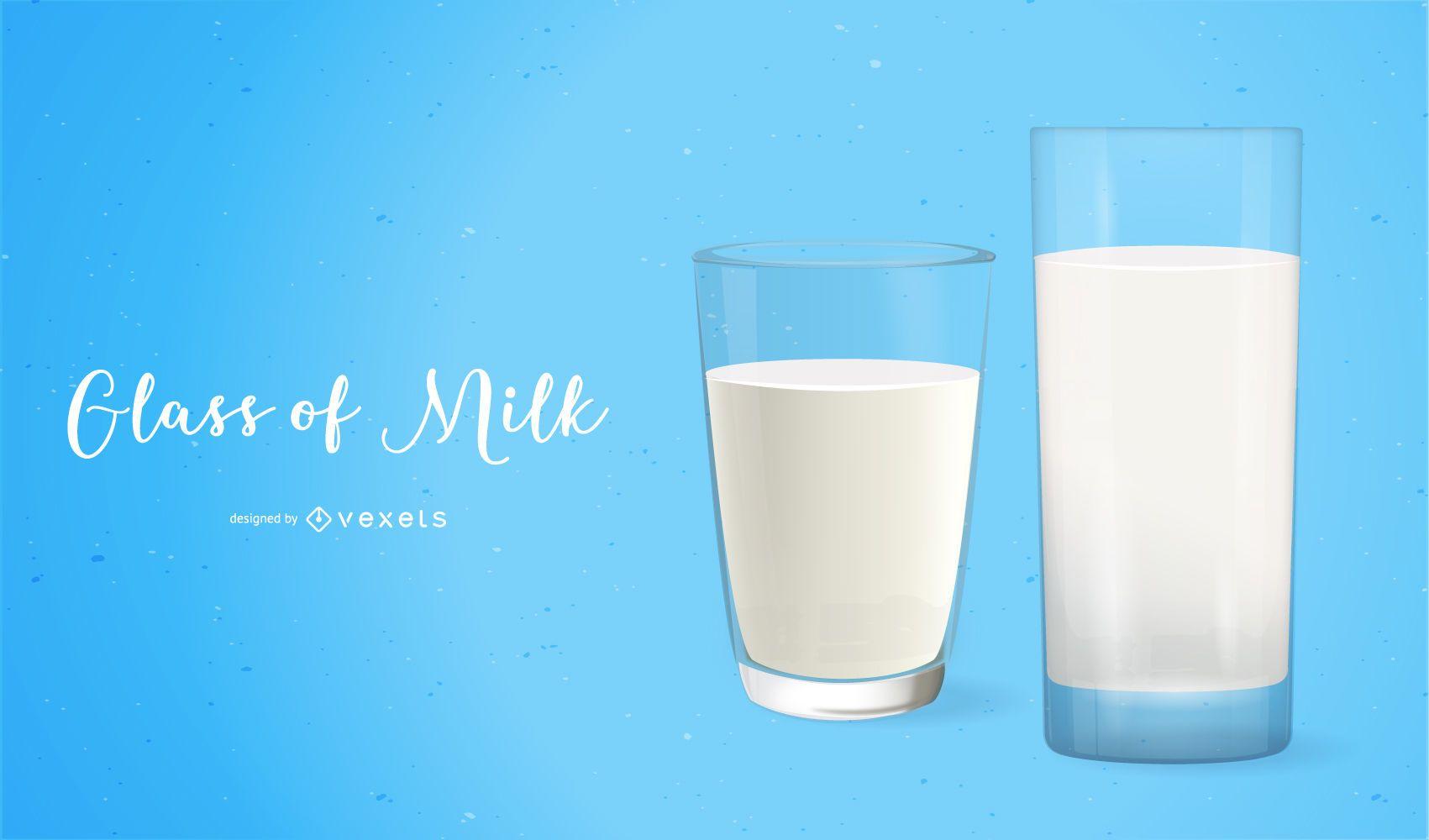 Hyper Real Glass of Milk